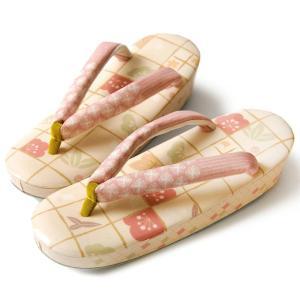 【サマークリアランス開催中】草履 WAKKA 松竹梅 ピンク 日本製|kimono-dearjapan