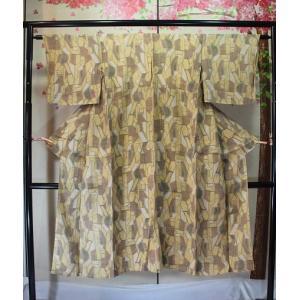 アンティーク/ 辛子色の小千谷縮|kimono-himesakura