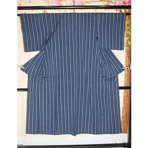 未使用/ かつお縞木綿(単)|kimono-himesakura