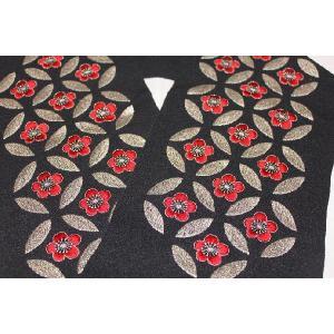 新品/ 七宝桜の刺繍の半衿|kimono-himesakura