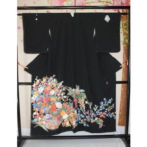 未使用/  加賀友禅作家・押田正義の黒留袖(五三の桐紋)|kimono-himesakura