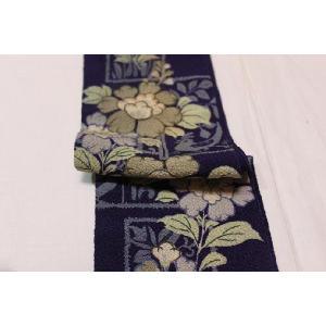 アンティーク/ 染・花鳥の刺繍の半えり|kimono-himesakura