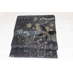 未使用/  別珍とビーズ過去の蝶々の袋帯|kimono-himesakura