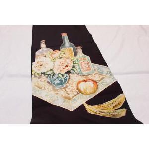 アンティーク/ アールデコ染と刺繍の帯|kimono-himesakura