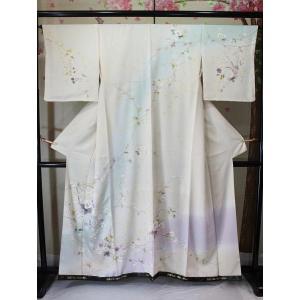 新品/ クリーム地の花友禅の訪問着|kimono-himesakura