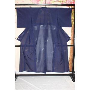 中古・リサイクル/ 紺色の紗 kimono-himesakura