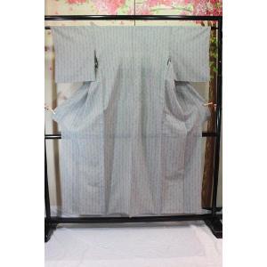 中古・リサイクル/ 単の縞の琉球柄風の着物 kimono-himesakura