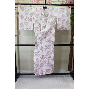 中古・リサイクル/ 花木模様の小千谷縮|kimono-himesakura