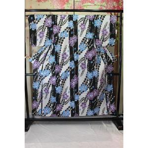リサイクル/ 桜藤花模様の浴衣|kimono-himesakura