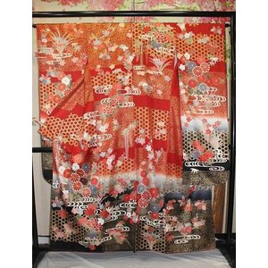 中古・リサイクル/ 古典・花流水の振袖 kimono-himesakura