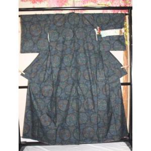 未使用/ 重要無形文化財・いざりばた本場結城紬100亀甲|kimono-himesakura