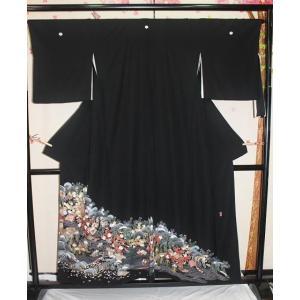 中古・リサイクル/ 御所車模様の友禅の黒留袖|kimono-himesakura