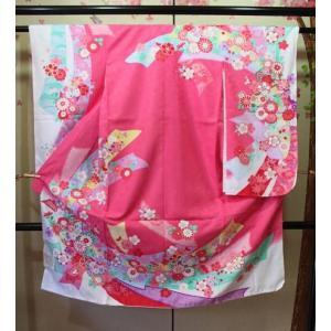 新品/ 花てまり柄女の子の着物+長襦袢セット|kimono-himesakura