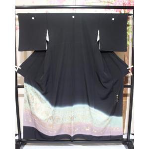 リサイクル/ 汕頭刺繍の黒留袖|kimono-himesakura
