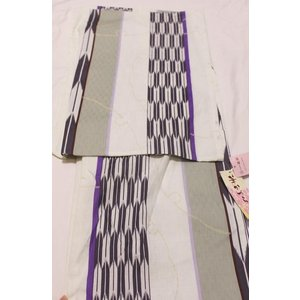 新品/ 雪輪に矢絣の浴衣|kimono-himesakura