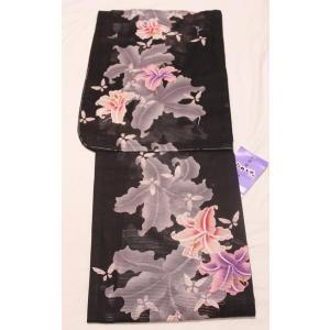 新品/ 綿絽・ゆり柄の浴衣|kimono-himesakura