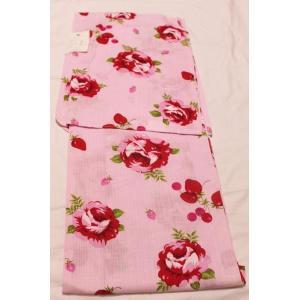 新品/ 松田聖子の苺とバラの浴衣|kimono-himesakura