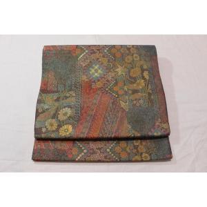 未使用/ 伝統工芸・手織りの伊那紬の袋帯|kimono-himesakura