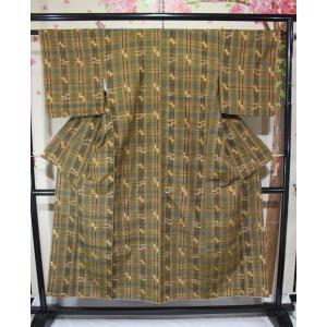 未使用/ チェックの琉球紬|kimono-himesakura