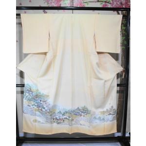未使用/ 王朝物語・賀茂祭図・寿光織りの色留袖|kimono-himesakura