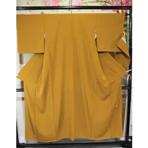未使用/ ろうけつ草木染め・瑞寛の色無地|kimono-himesakura