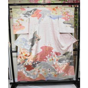 特選着物・リサイクル/ 千總の友禅金彩加工訪問着です kimono-himesakura