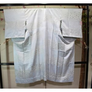 未使用/ 宝尽くしの綸子の長じゅばん・単衣|kimono-himesakura