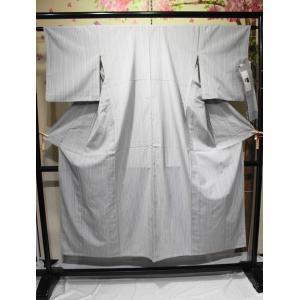 リサイクル/ 縞柄の単衣のやまだ織・本塩沢紬|kimono-himesakura