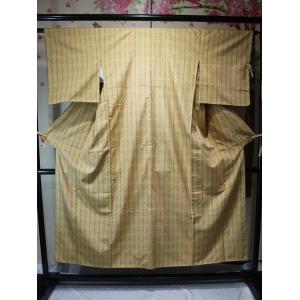 未使用/ 花織の紬|kimono-himesakura