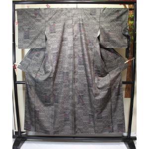 未使用/ 本場大島紬・花麻の葉柄(証紙付)|kimono-himesakura