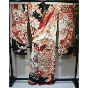 アンティーク/ 松花正倉院総柄振袖(長じゅばんセット) |kimono-himesakura
