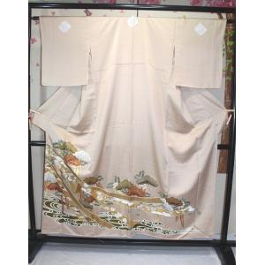 未使用/ 金彩加工・友禅の綸子の色留袖|kimono-himesakura