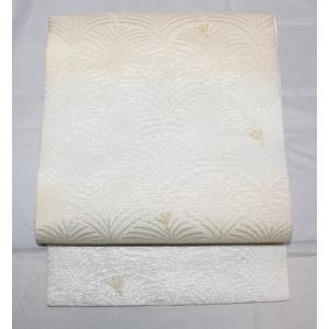 新品/ 西陣佐々木織物・青海波模様の夏の絽の名古屋帯|kimono-himesakura