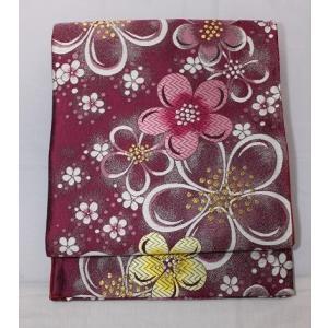 リサイクル/ 花柄の袋帯|kimono-himesakura