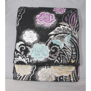 リサイクル/ 蝶に薔薇の袋帯|kimono-himesakura