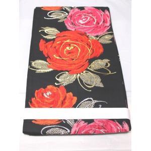 リサイクル/ 大輪薔薇模様の袋帯|kimono-himesakura
