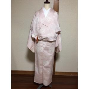 未使用/ 花柄の単衣の塩沢紬|kimono-himesakura