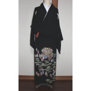 リサイクル/ 相良刺繍の黒留袖(五三の桐)|kimono-himesakura