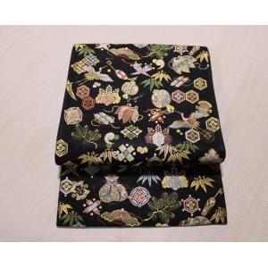 新品/ 西陣・山下織物・招福宝尽くしの唐織りの袋帯|kimono-himesakura