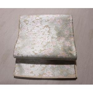 リサイクル/山口美術織物・蓮柄の唐織りの袋帯|kimono-himesakura