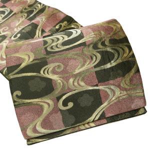 サイズ 440x31cm  素材 正絹  商品ランク BC  ●お色 グレーがかった黒とピンクがかっ...
