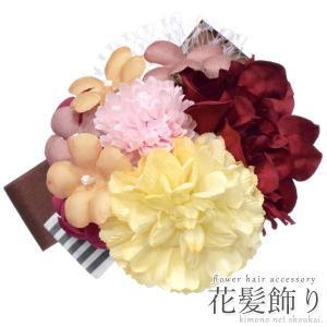 花 髪飾り【桜Uピン 3個セット/白 ホワイト 14154】さくら サクラ ヘアアクセサリー パーティー 成人式 結婚式 謝恩会 卒業式 七五三 ドレス 浴衣|kimono-japan