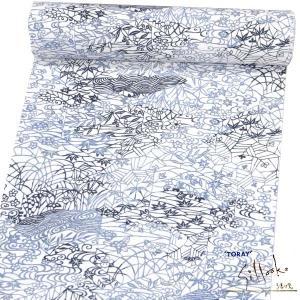 東レシルック 小紋反物/着尺 お仕立て付【白地に黒・灰伝統古典柄 15365】 イージーオーダー 仕立代込み 小紋着尺 kimono-japan