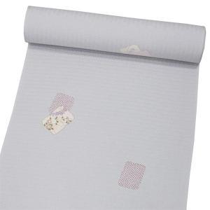 正絹小紋 【灰白色地に花と絞り柄】 お仕立て付|kimono-japan