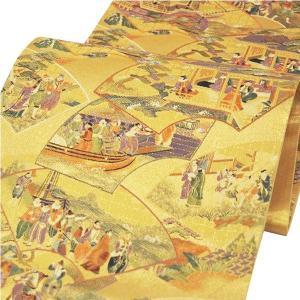 袋帯 西陣織 正絹 「想扇南蛮図」 お仕立代込|kimono-japan