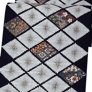 袋帯 正絹 西陣織 「菊菱」 お仕立代込|kimono-japan