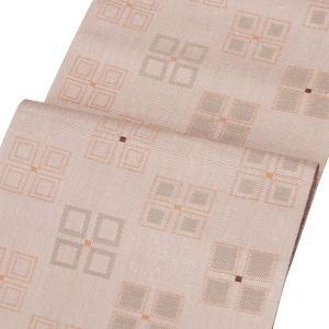 【米沢織 八寸名古屋帯】 ジャガード織 茶鼠色和紙使用 お仕立代込|kimono-japan