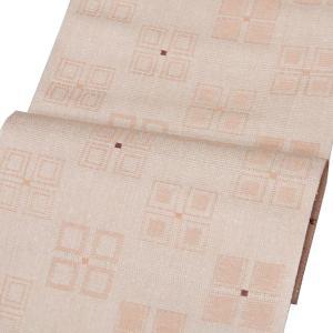 【米沢織 八寸名古屋帯】 ジャガード織 橙系和紙使用 お仕立代込|kimono-japan