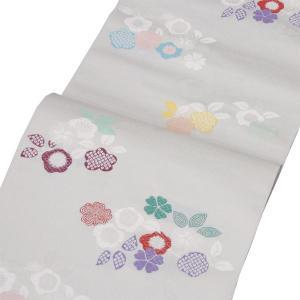 正絹 【西陣織 九寸名古屋帯】 白系 お仕立代込|kimono-japan