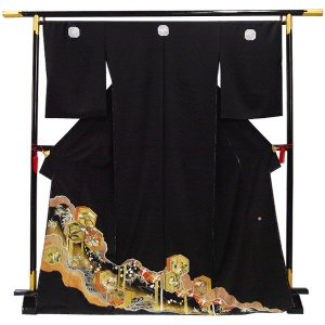 正絹 黒留袖  〔未仕立〕 kimono-japan
